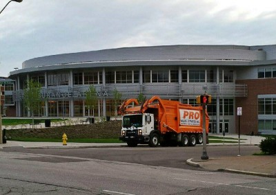 Pro Waste Truck outside of Erie Insurance Arena