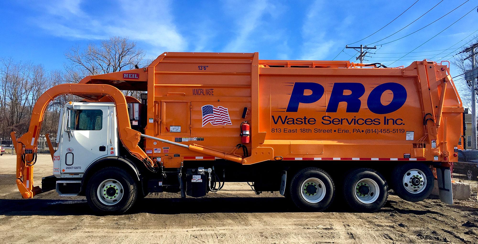 Pro Waste Front Load Garbage Truck