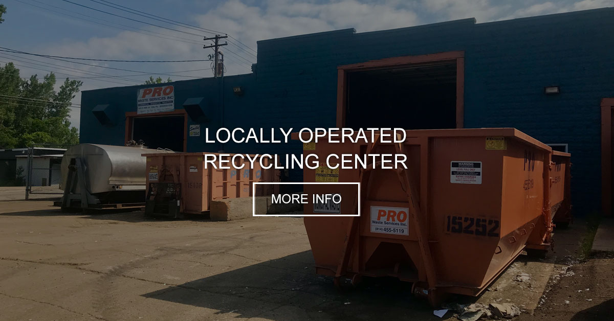 Recycling | Pro Waste Services - Erie, Meadville, Jamestown